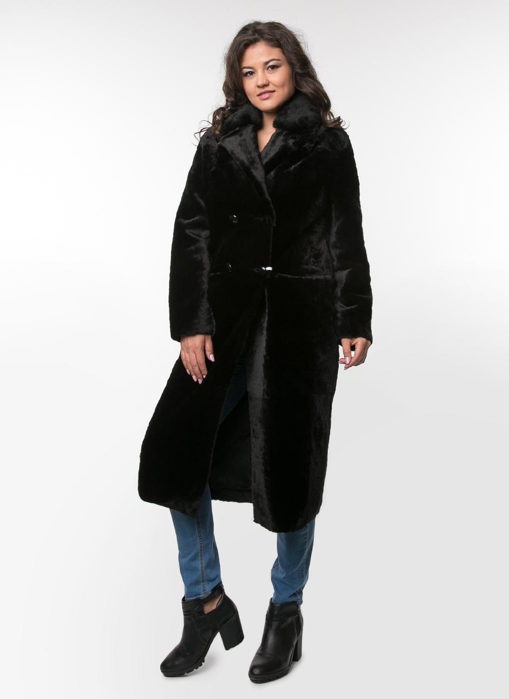 Пальто кокон из овчины 05, Aliance fur фото