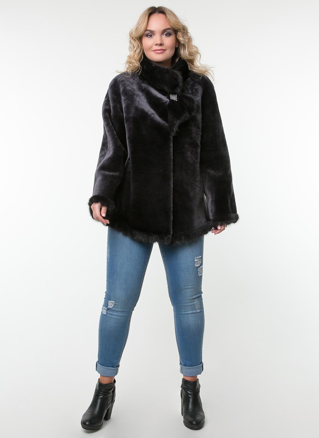Куртка трапеция из овчины 01, Feliz Furs
