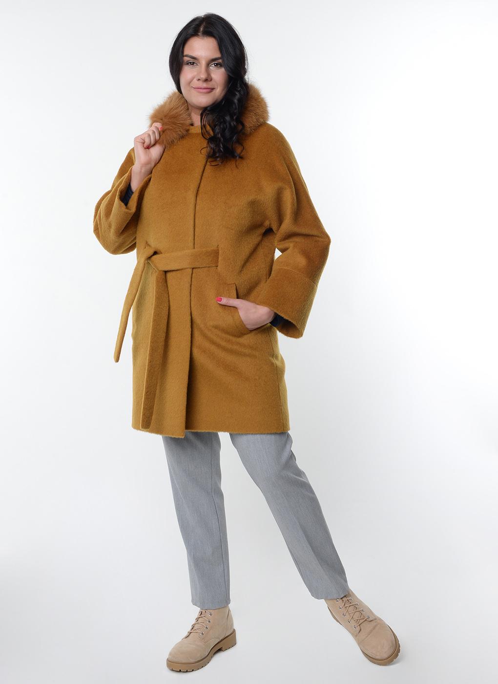 Пальто прямое чистошерстяное 55, Bella collection фото