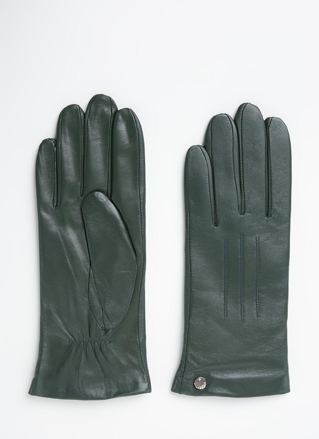 Перчатки кожаные женские 14, Fabretti фото