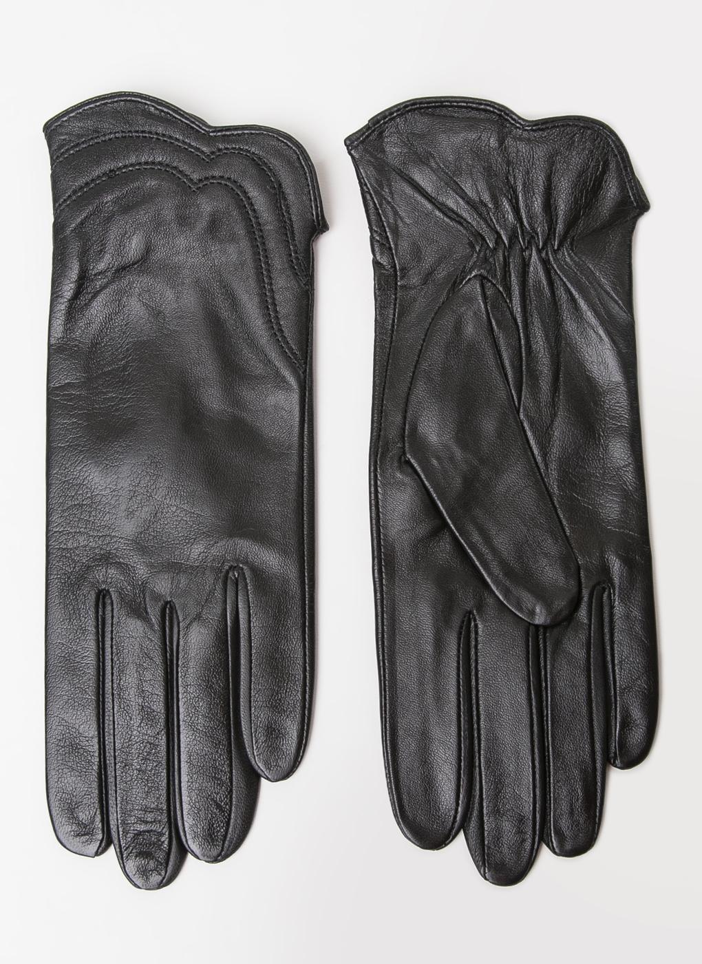 Перчатки кожаные женские 11, Fabretti фото