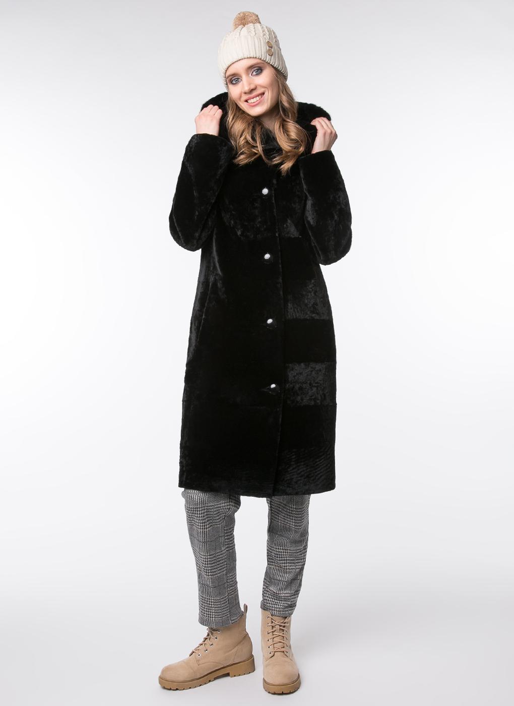 Пальто кокон из астрагана 04, Alfafur