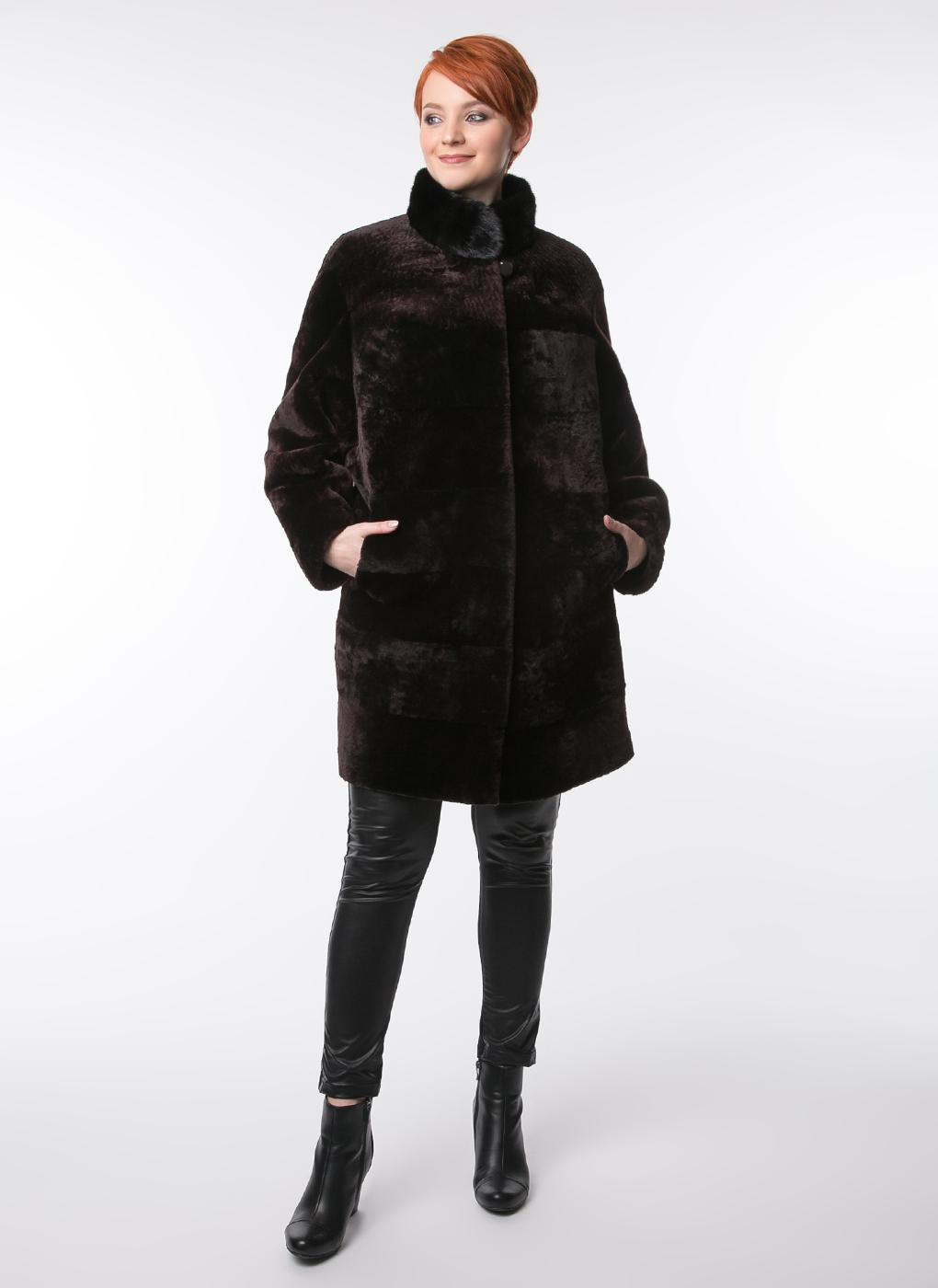 Пальто кокон из мутона 04, Alfafur