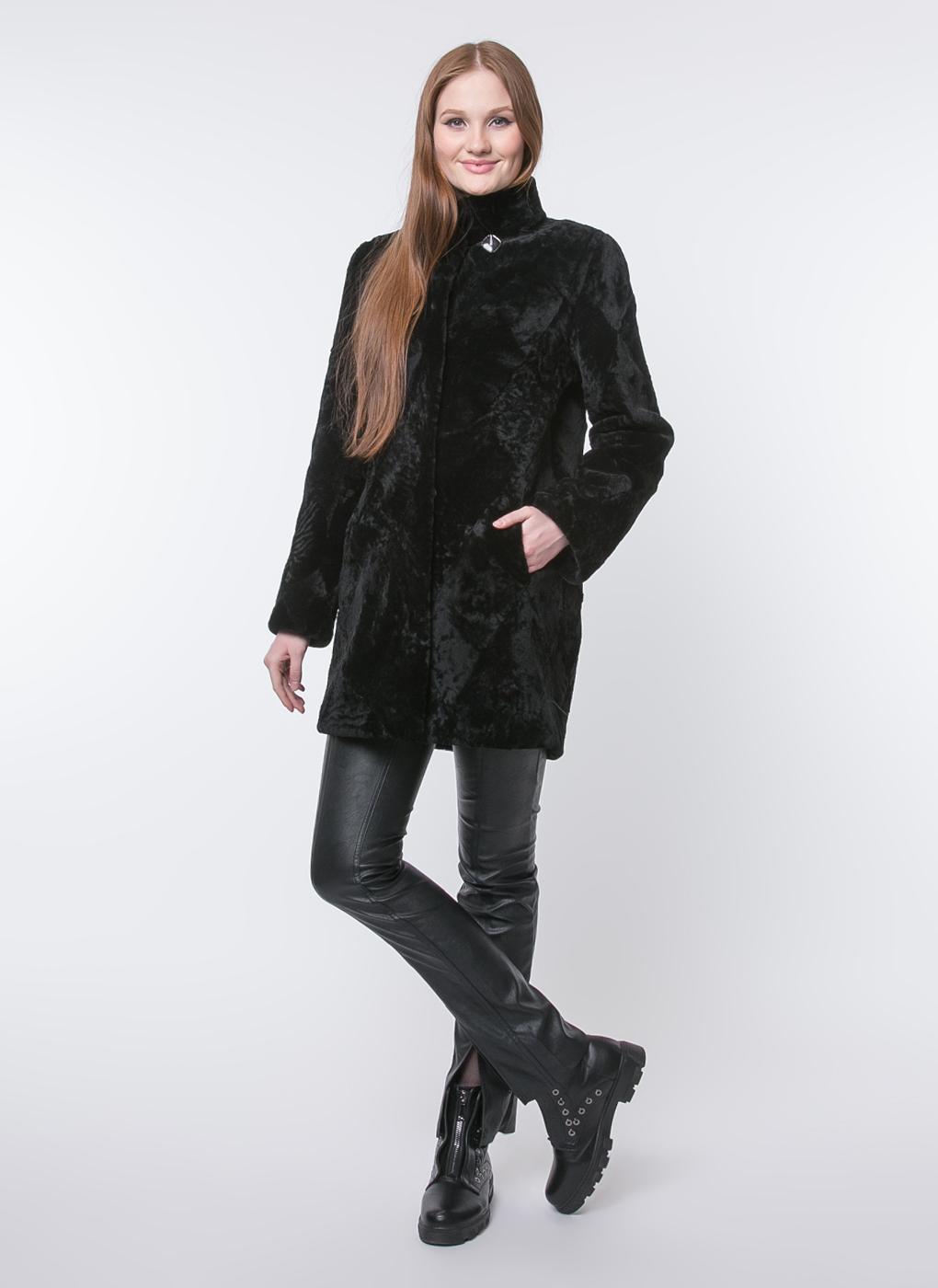 Пальто прямое из астрагана 07, Original fur company фото