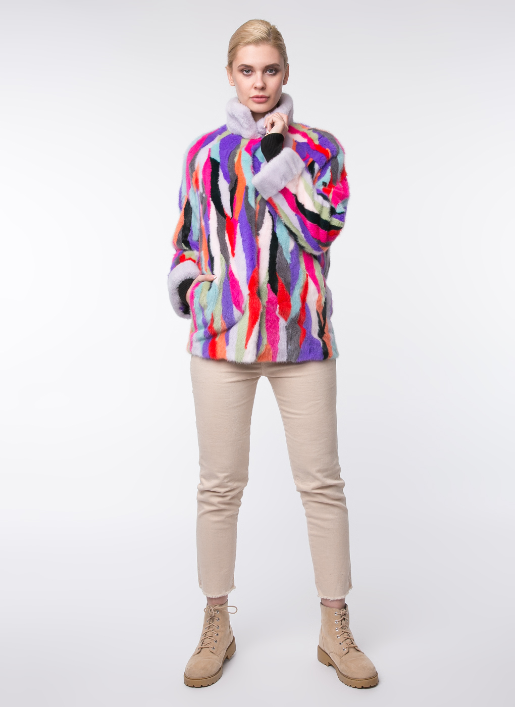 Норковая куртка Хадия 01, Mexschool