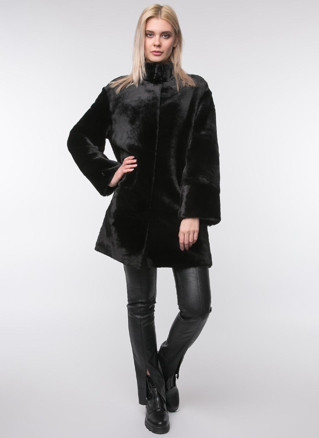 Пальто прямое из мутона 23, Aliance fur