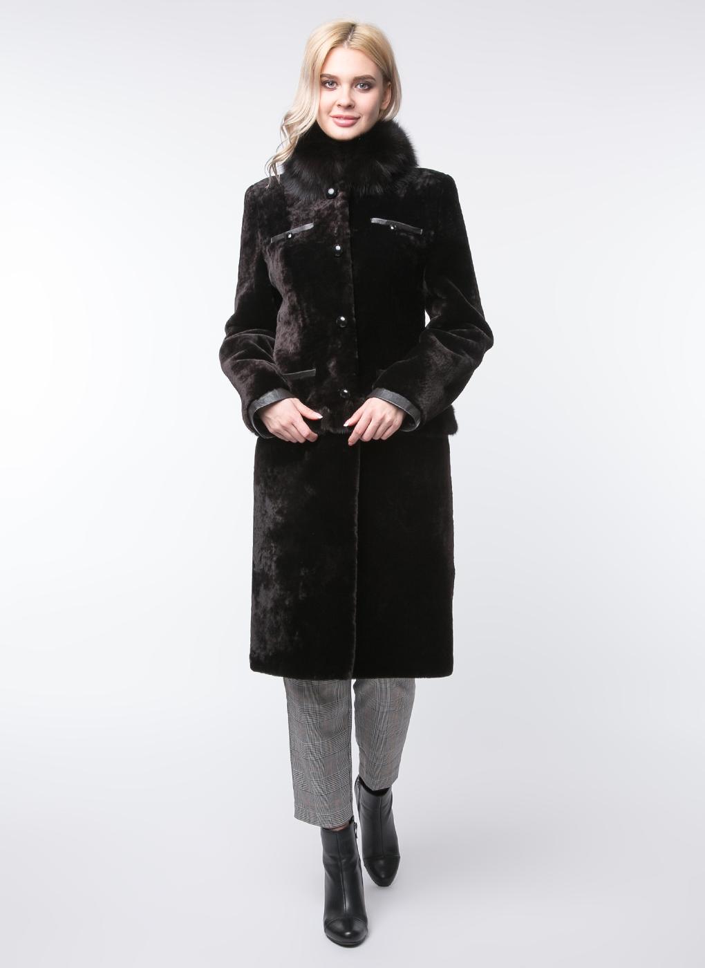 Пальто приталенное из мутона 39, Bonitta