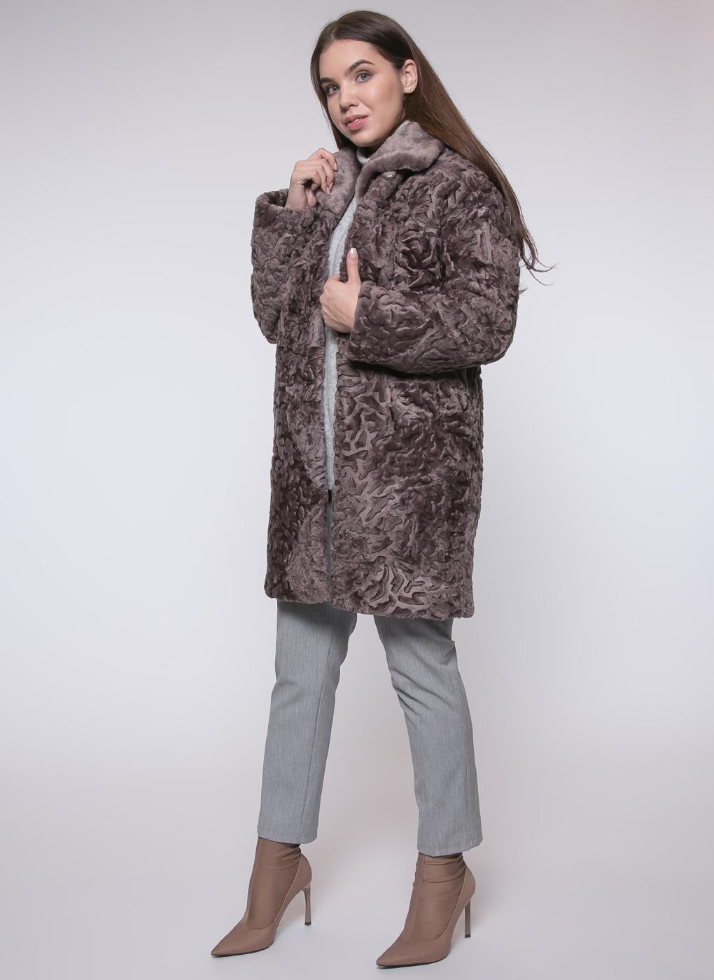 Пальто прямое из овчины 01, Janifer
