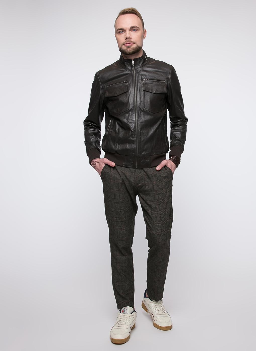 Бомбер мужской кожаный 04, Gotthold фото