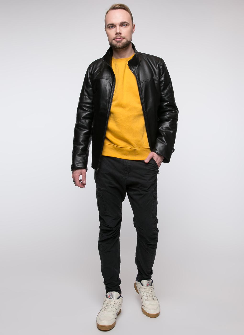Кожаная куртка мужская утепленная 05, Original fur company фото