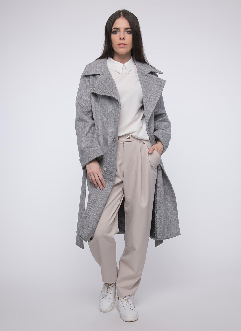 Пальто прямое шерстяное 58, idekka фото