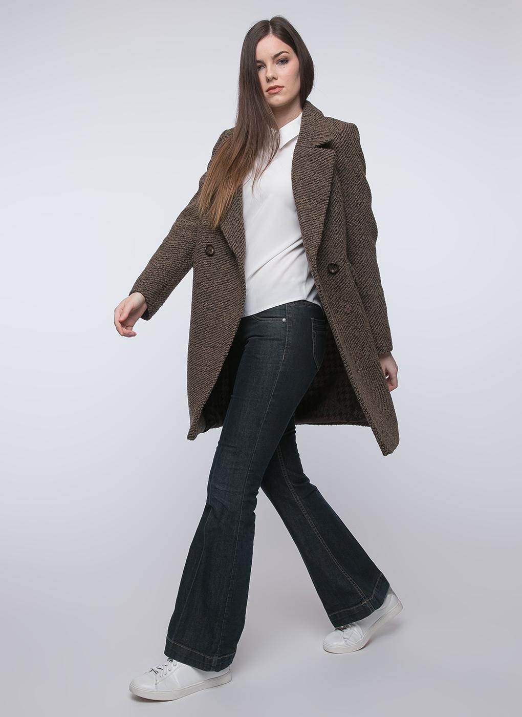 Пальто прямое шерстяное 40, idekka фото