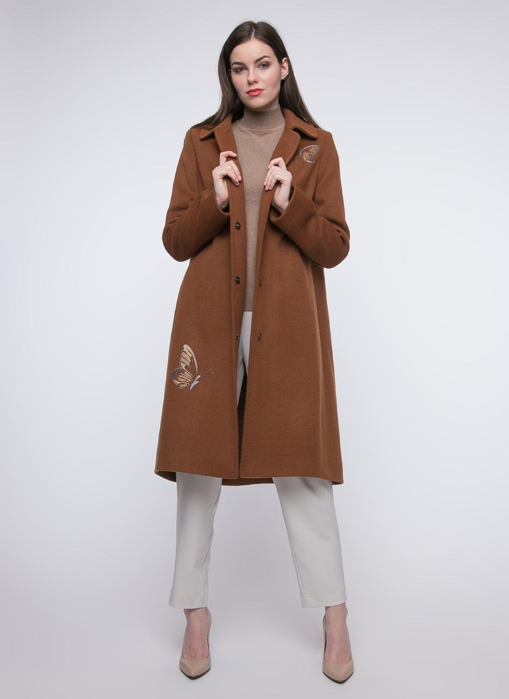 Пальто расклешенное полушерстяное 03, КАЛЯЕВ