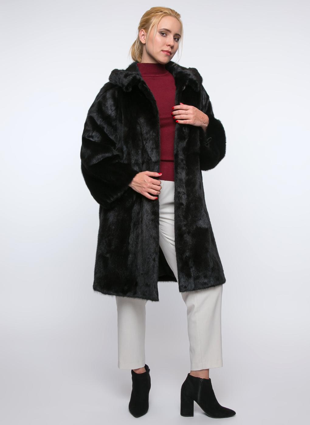 Норковая шуба Монто длинная 01, Gellica фото