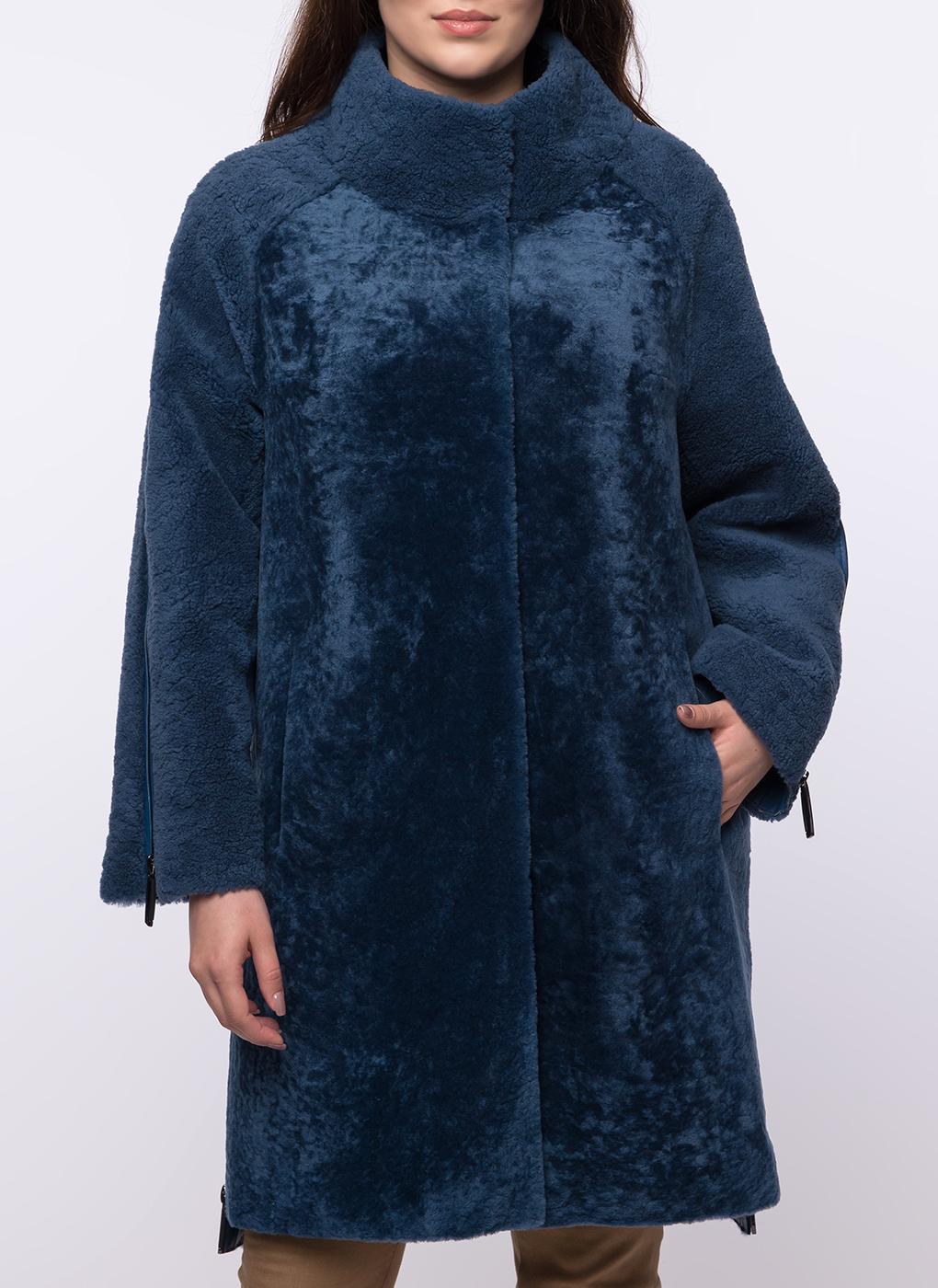 Пальто прямое из овчины керли 08, Favorit