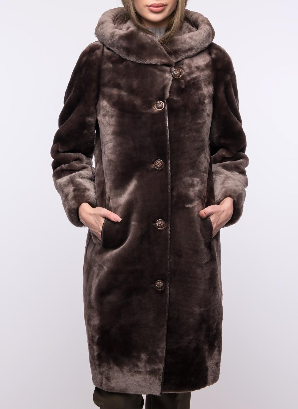 Пальто кокон из овчины 01