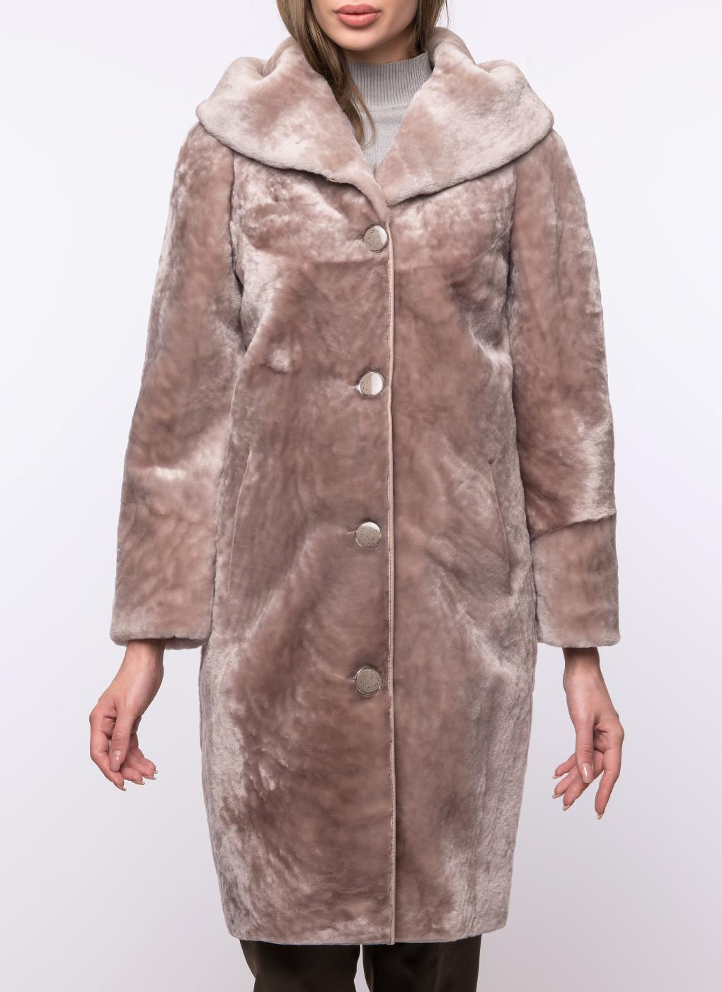 Пальто кокон из овчины 01 фото
