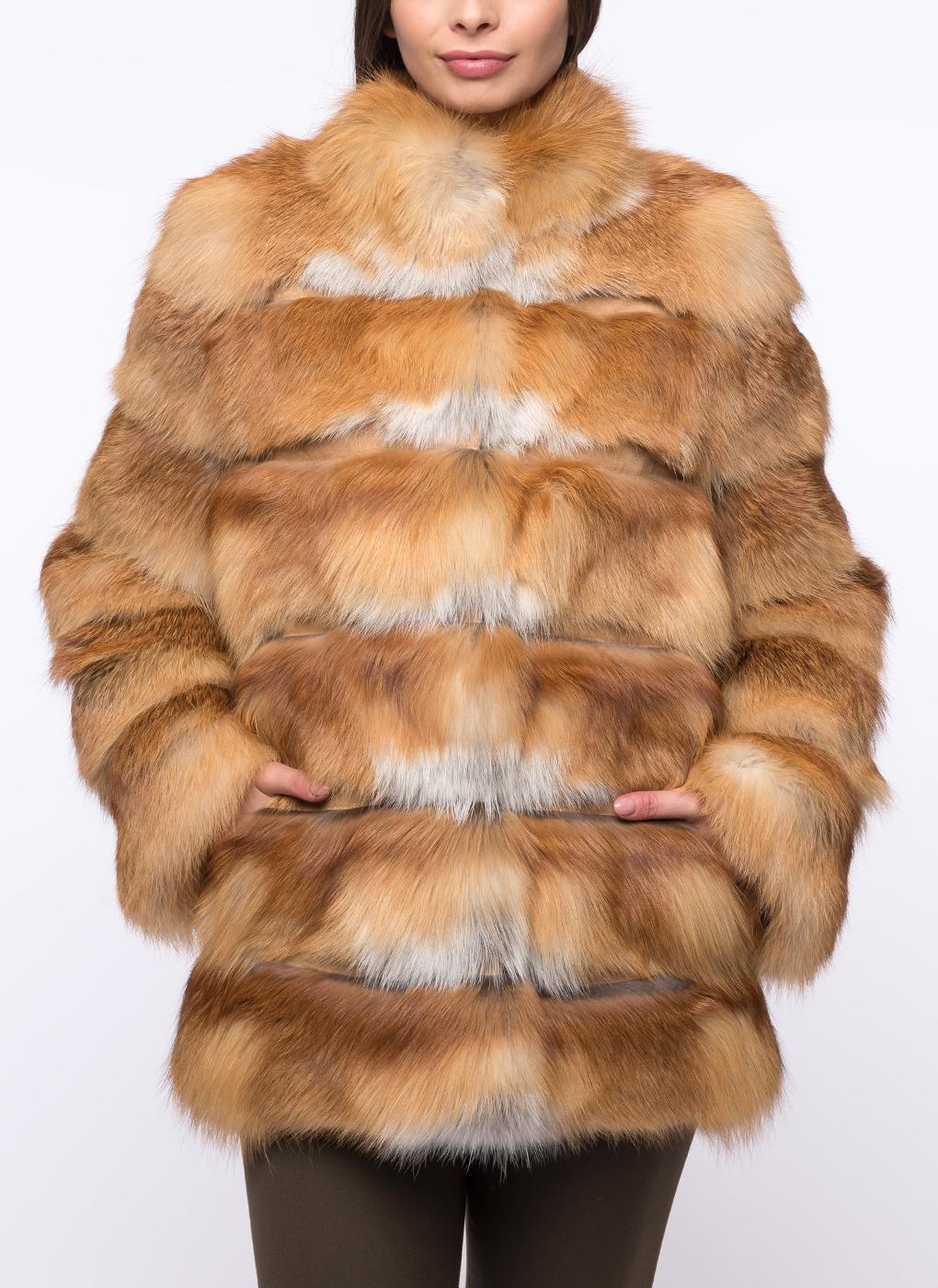 Куртка из лисы Джульетта 01, Олимп фото