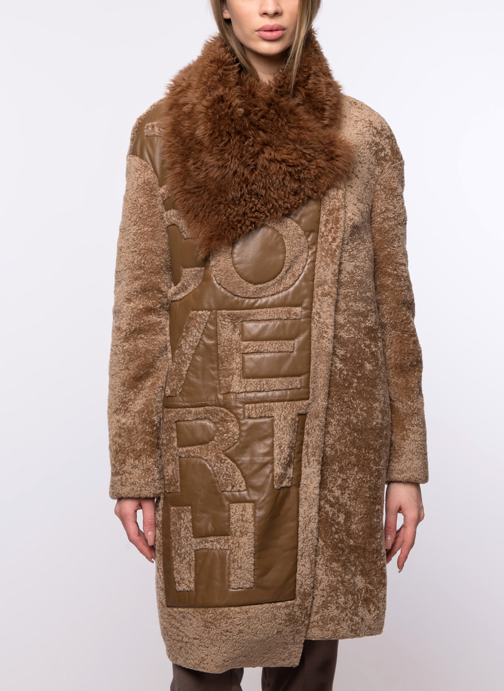 Пальто кокон из овчины 10, Aliance fur