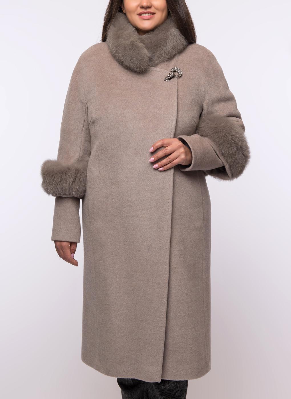 Пальто трапеция шерстяное 03, Fidan