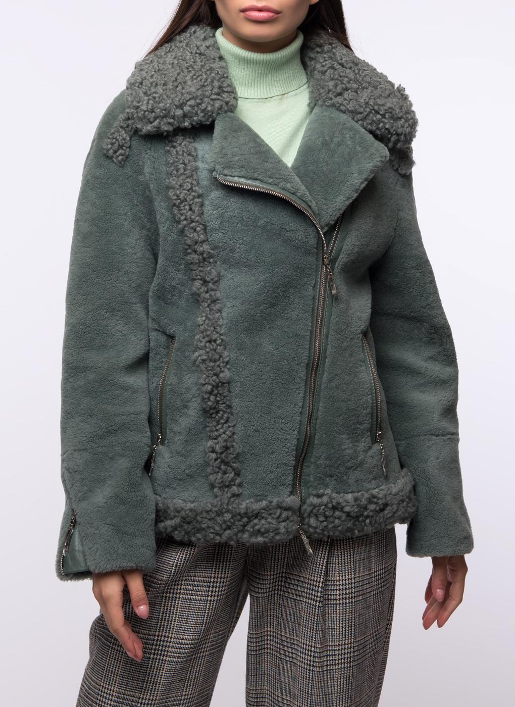 Куртка из овчины прямая 02, Шафель фото