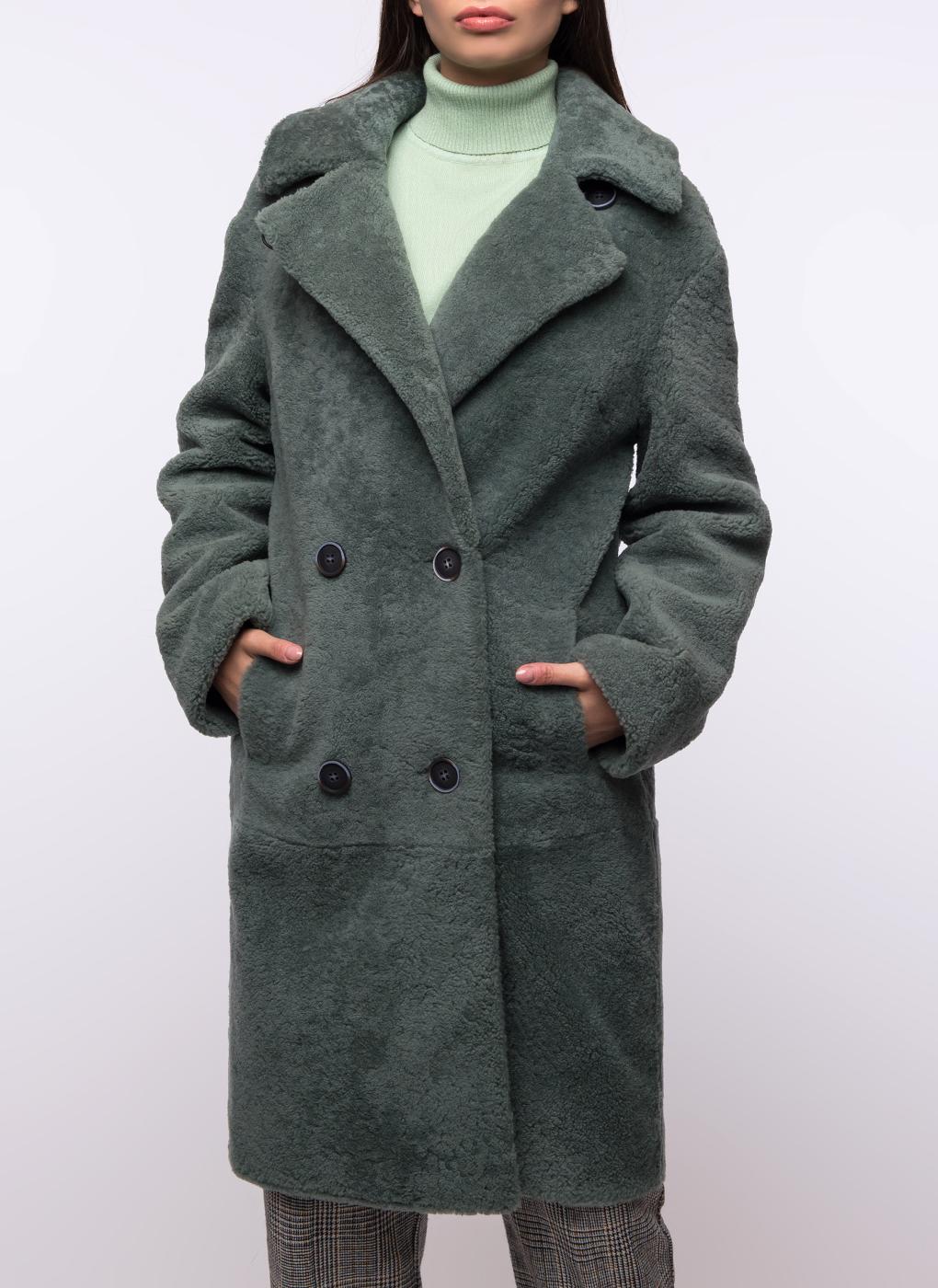 Пальто кокон из овчины 01, Шафель