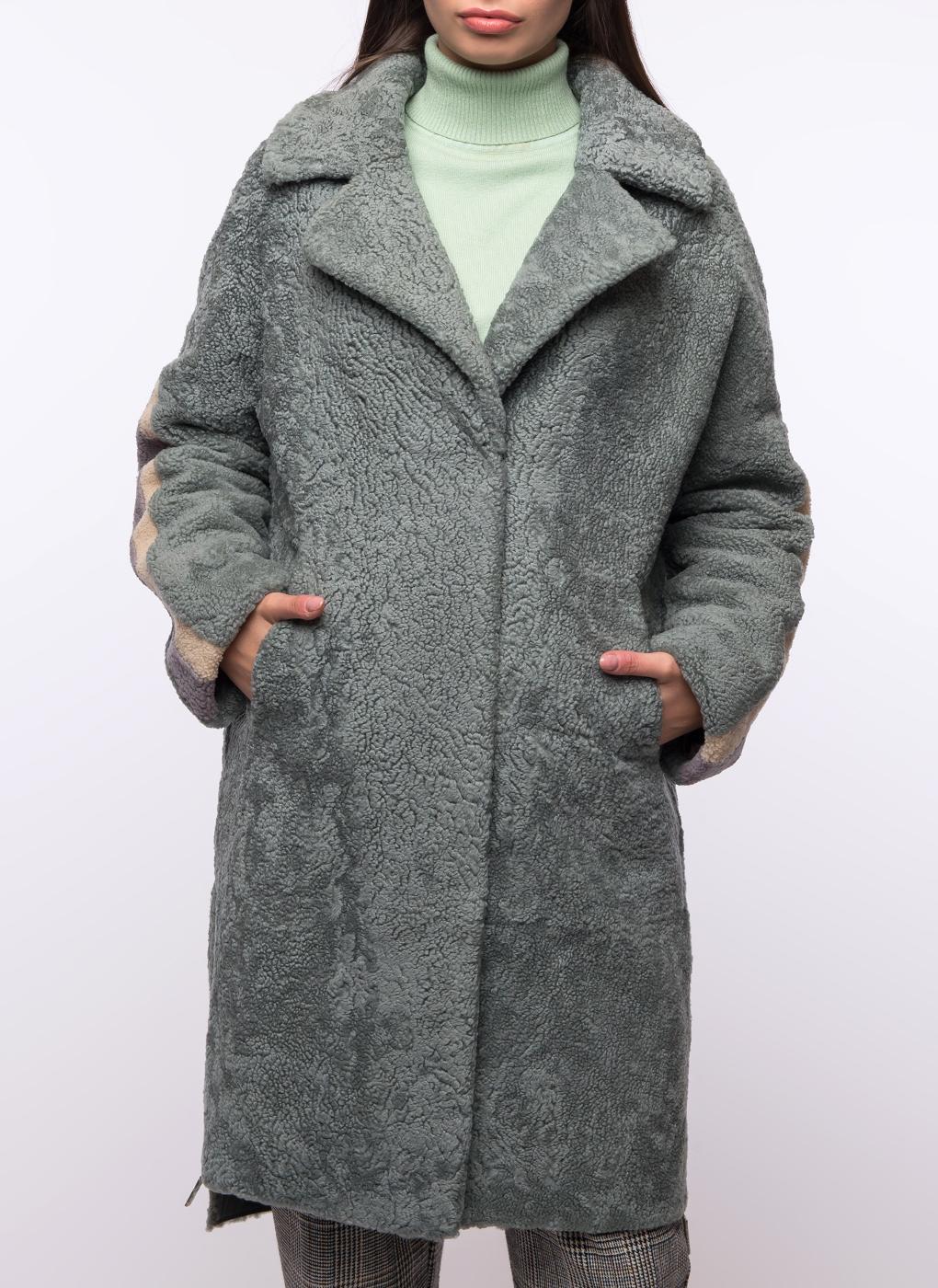 Пальто прямое из овчины 03, Шафель