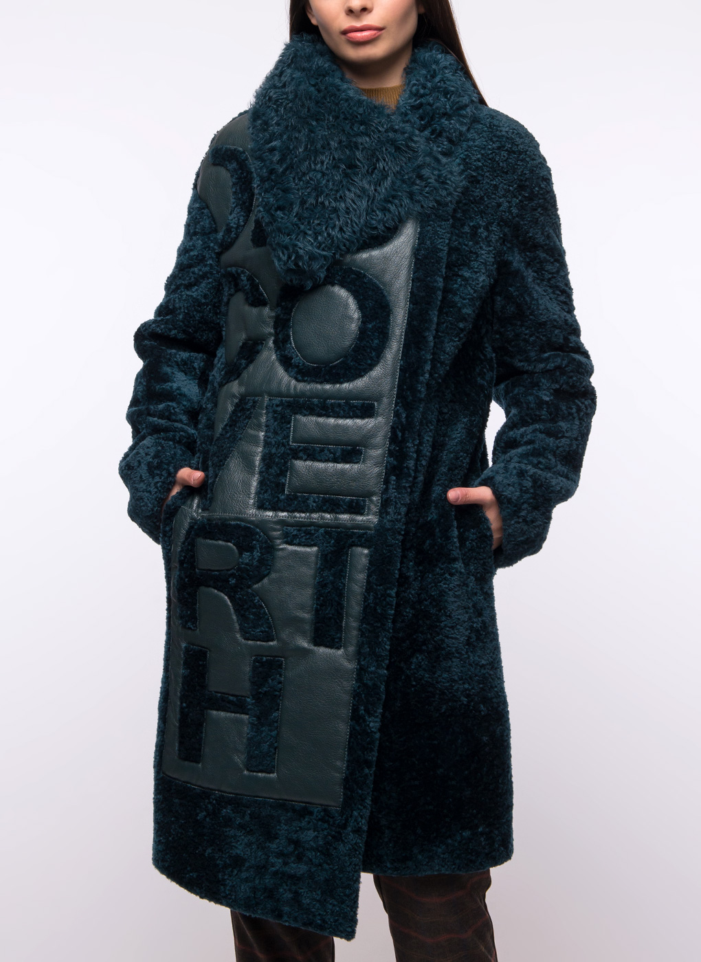 Пальто кокон из овчины 10, Aliance fur фото