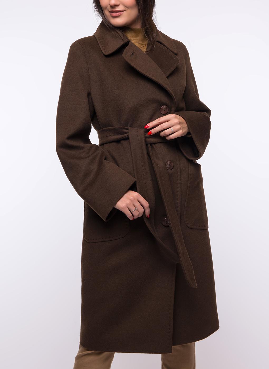 Пальто прямое полушерстяное 116, КАЛЯЕВ фото