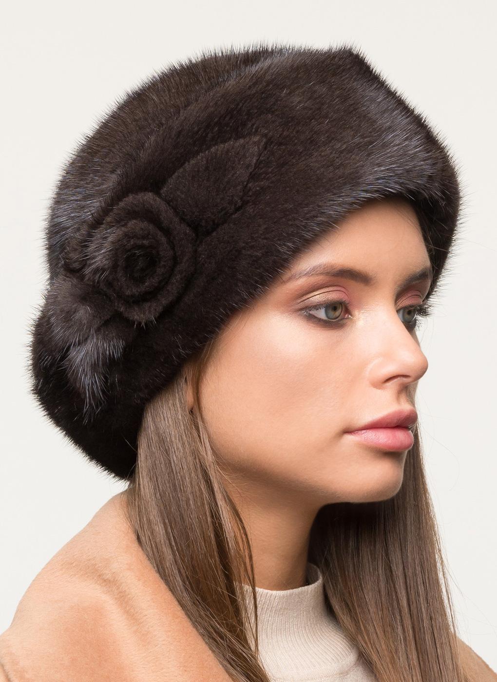 Шляпа из норки 117 с утеплителем, КАЛЯЕВ фото