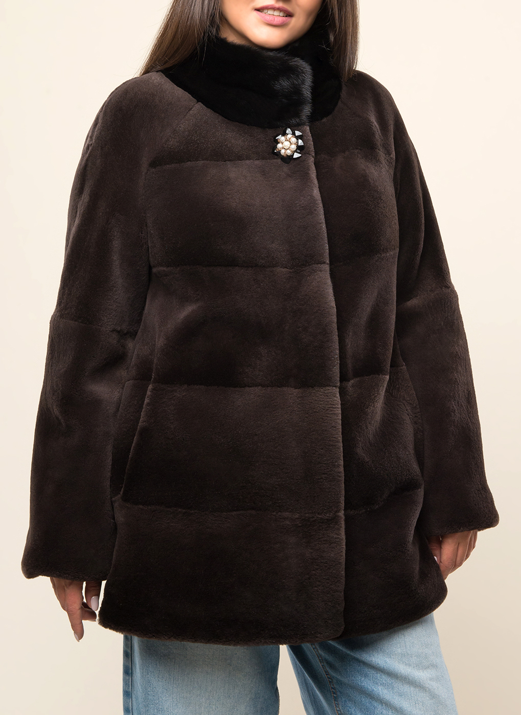 Куртка из нутрии Эмбер 01, Дианель меховой дом