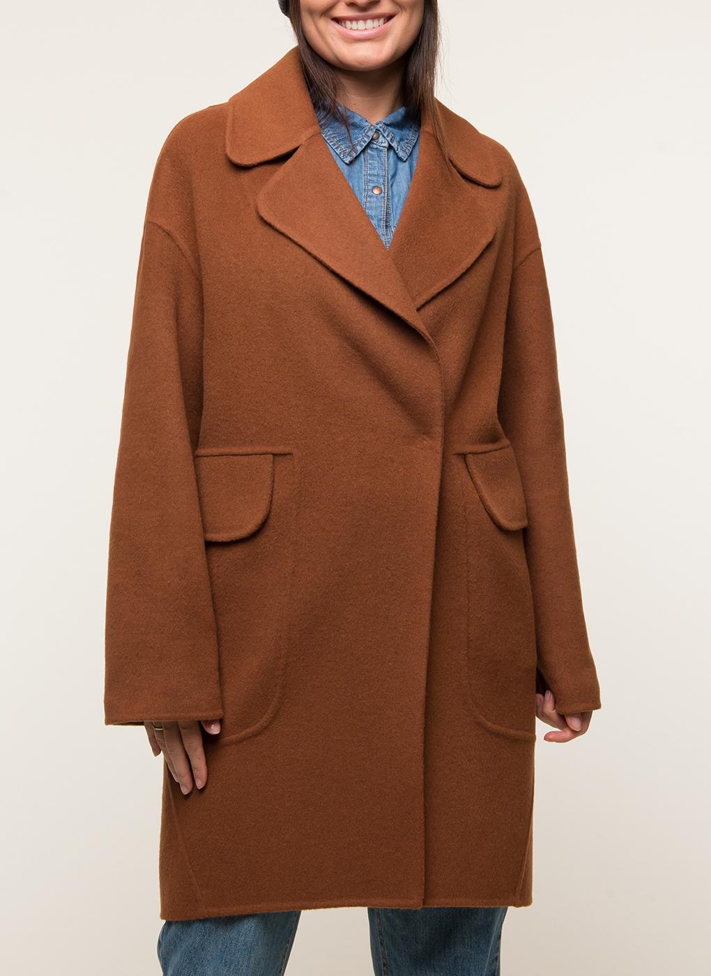 Пальто без подкладки прямое полушерстяное 120, КАЛЯЕВ фото