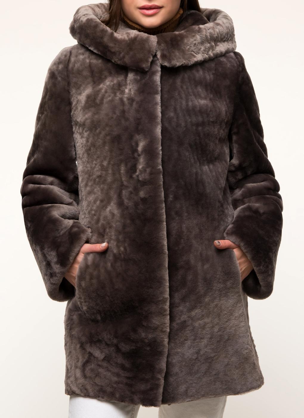 Пальто прямое из овчины 13, Andrea Mossi фото