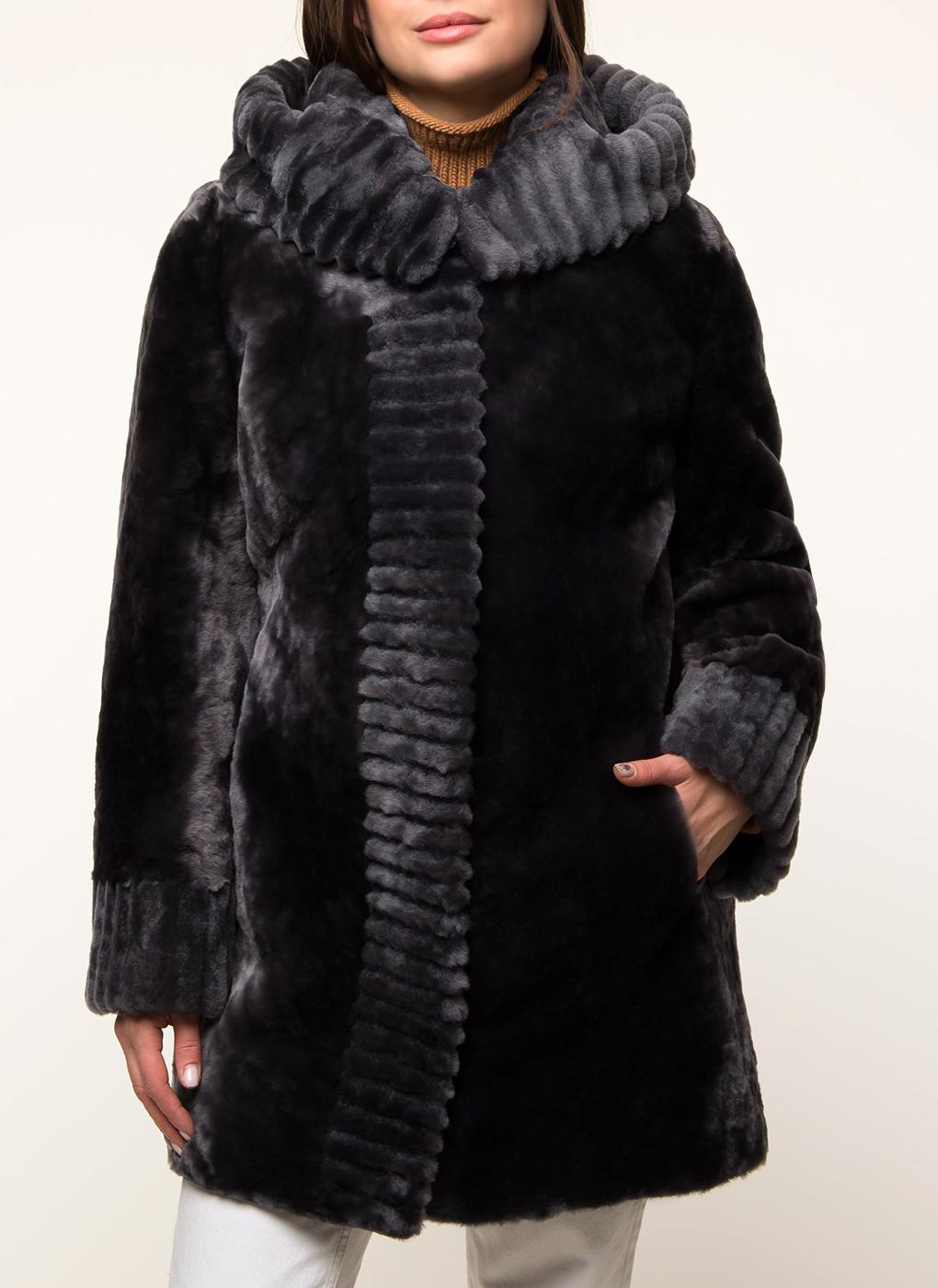 Пальто прямое из мутона 22, Andrea Mossi фото