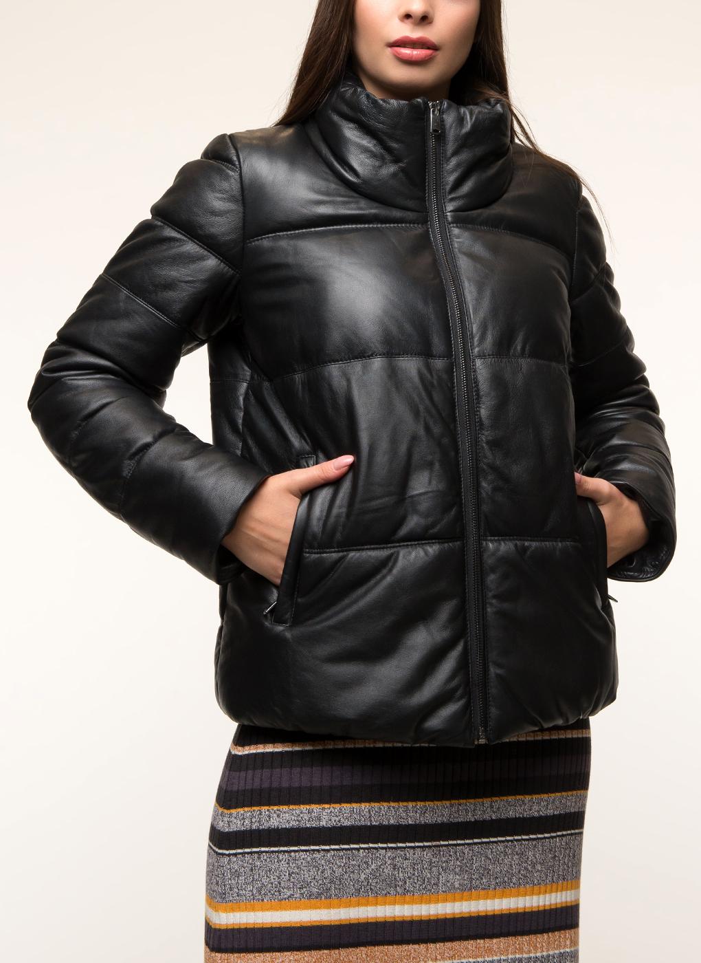 кожаные пуховики женские больших размеров фото