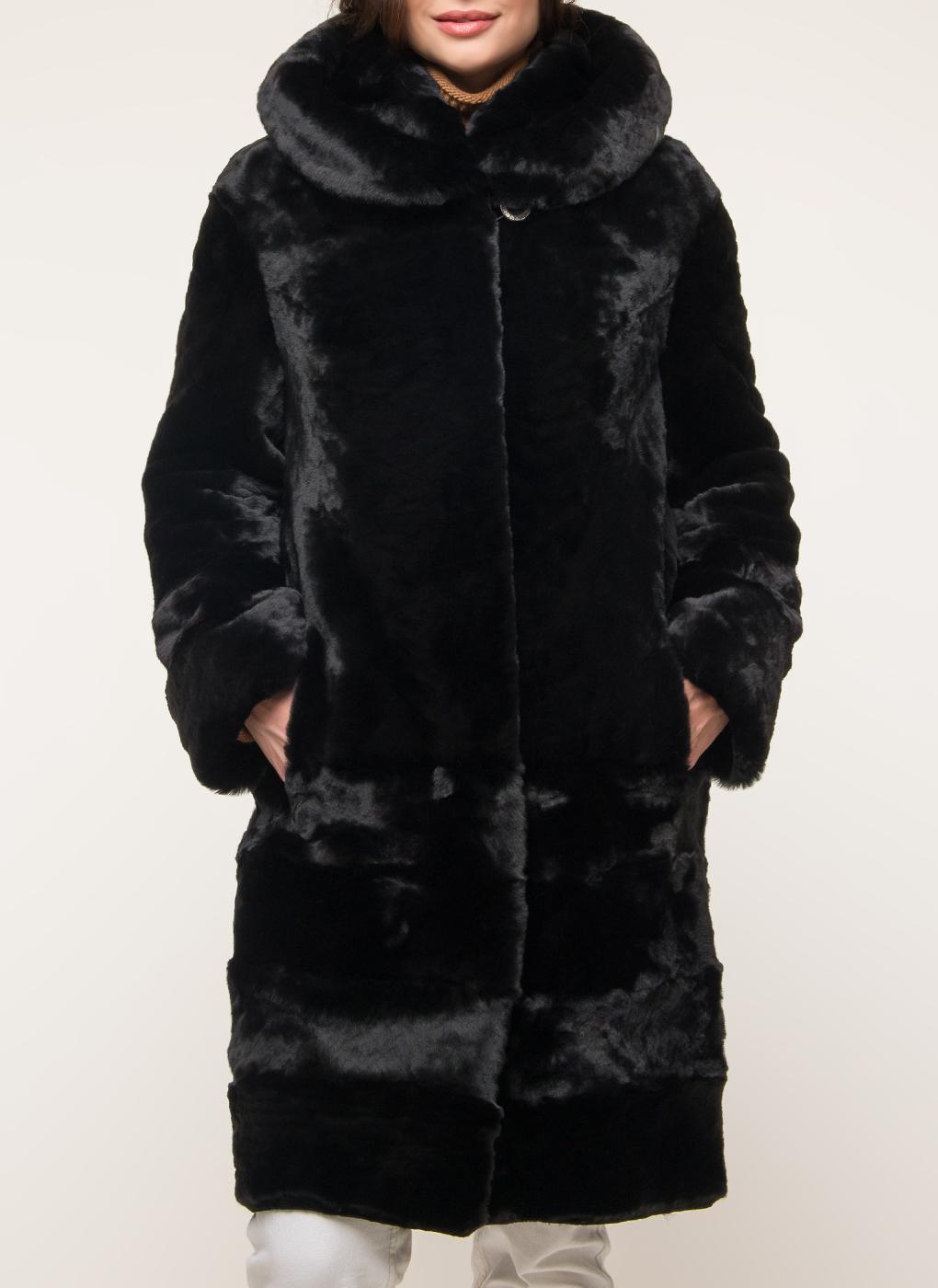 Пальто трапеция из мутона 13, Aliance fur