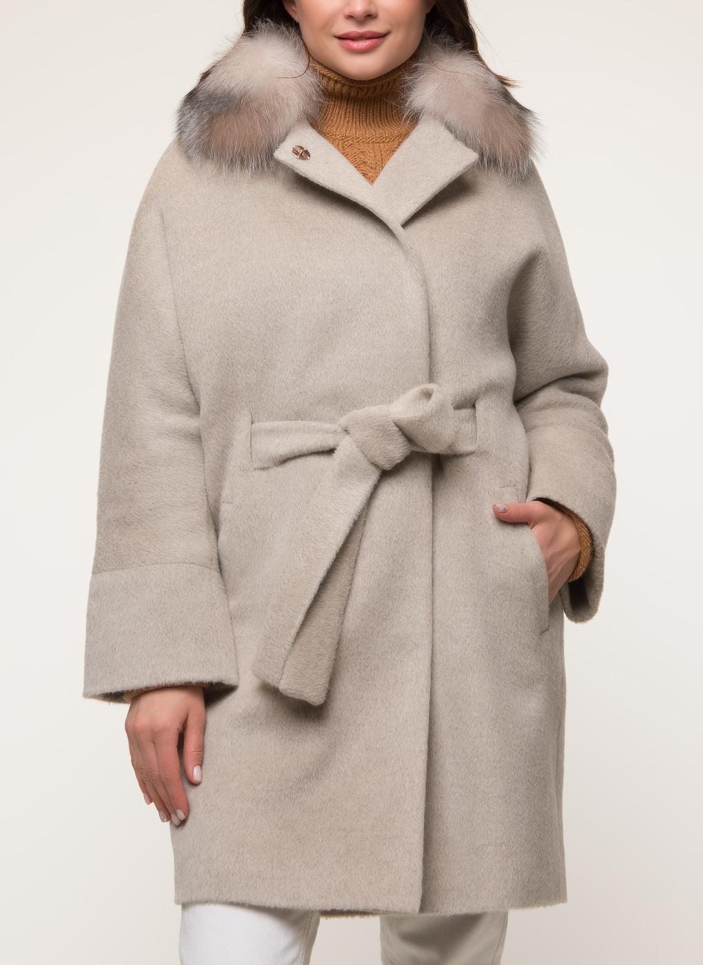 Пальто прямое шерстяное 55, Bella collection фото