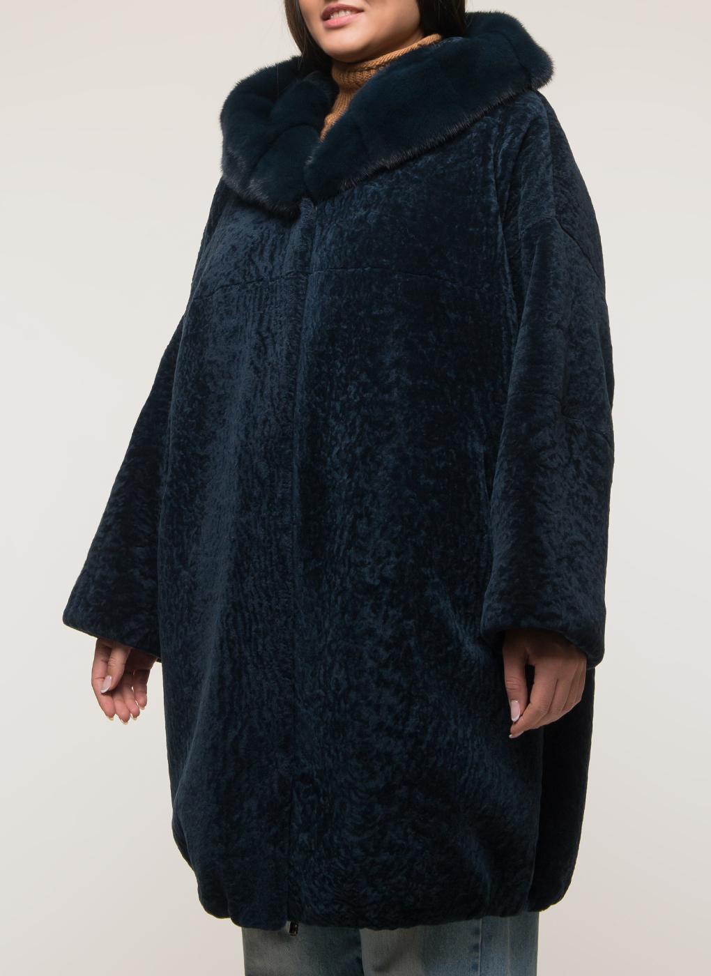 Пальто прямое из астрагана 13,Panafics furs фото