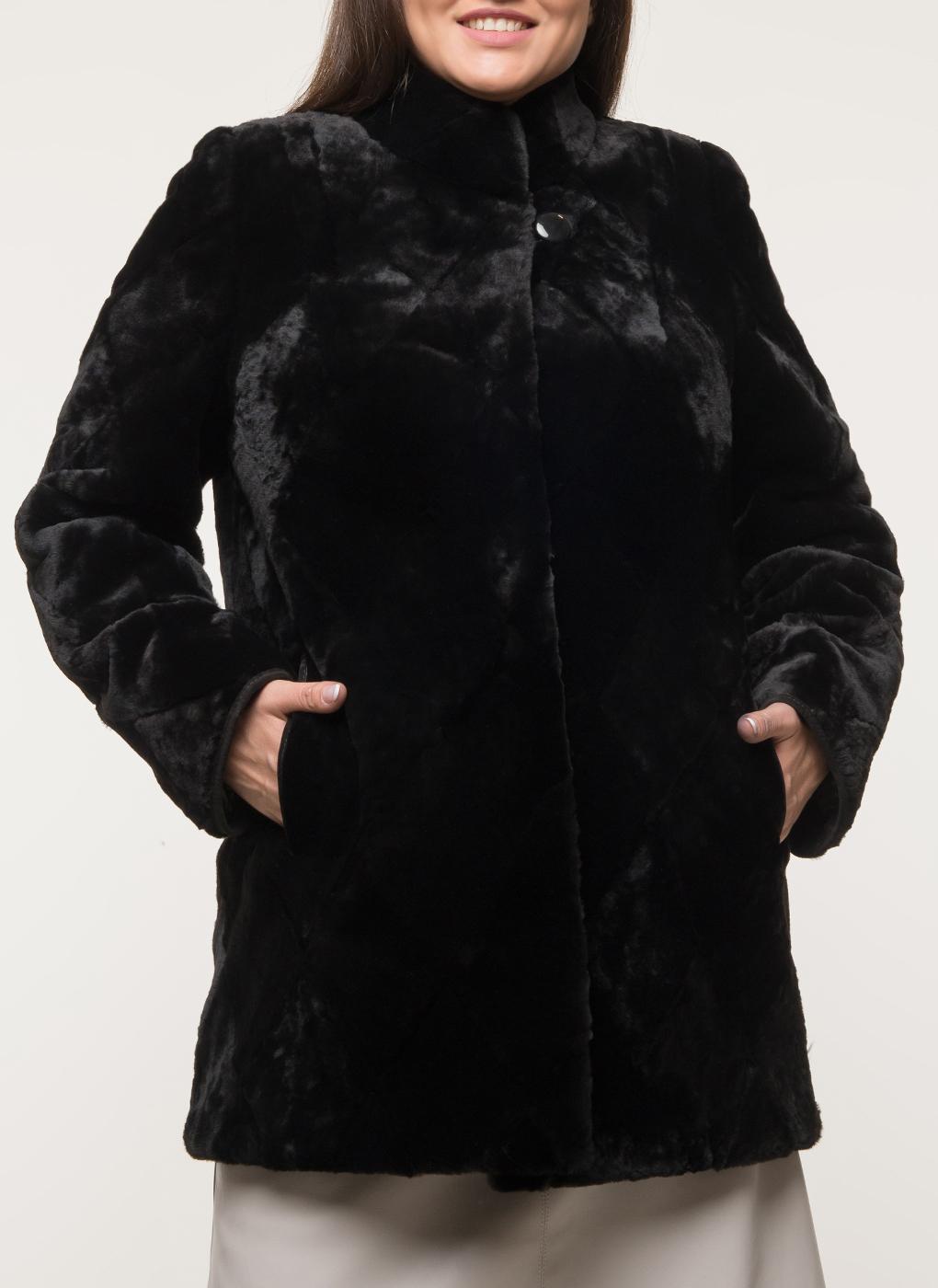 Пальто приталенное из овчины 03, Anna Romanova furs фото