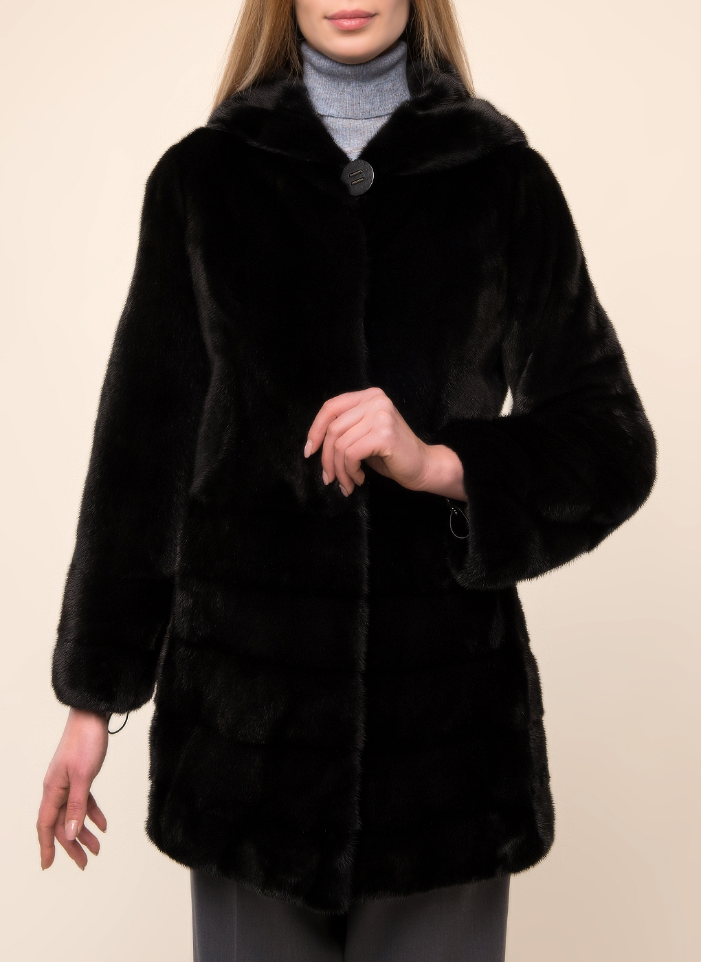 Норковая шуба Снежинка 01, КАЛЯЕВ фото