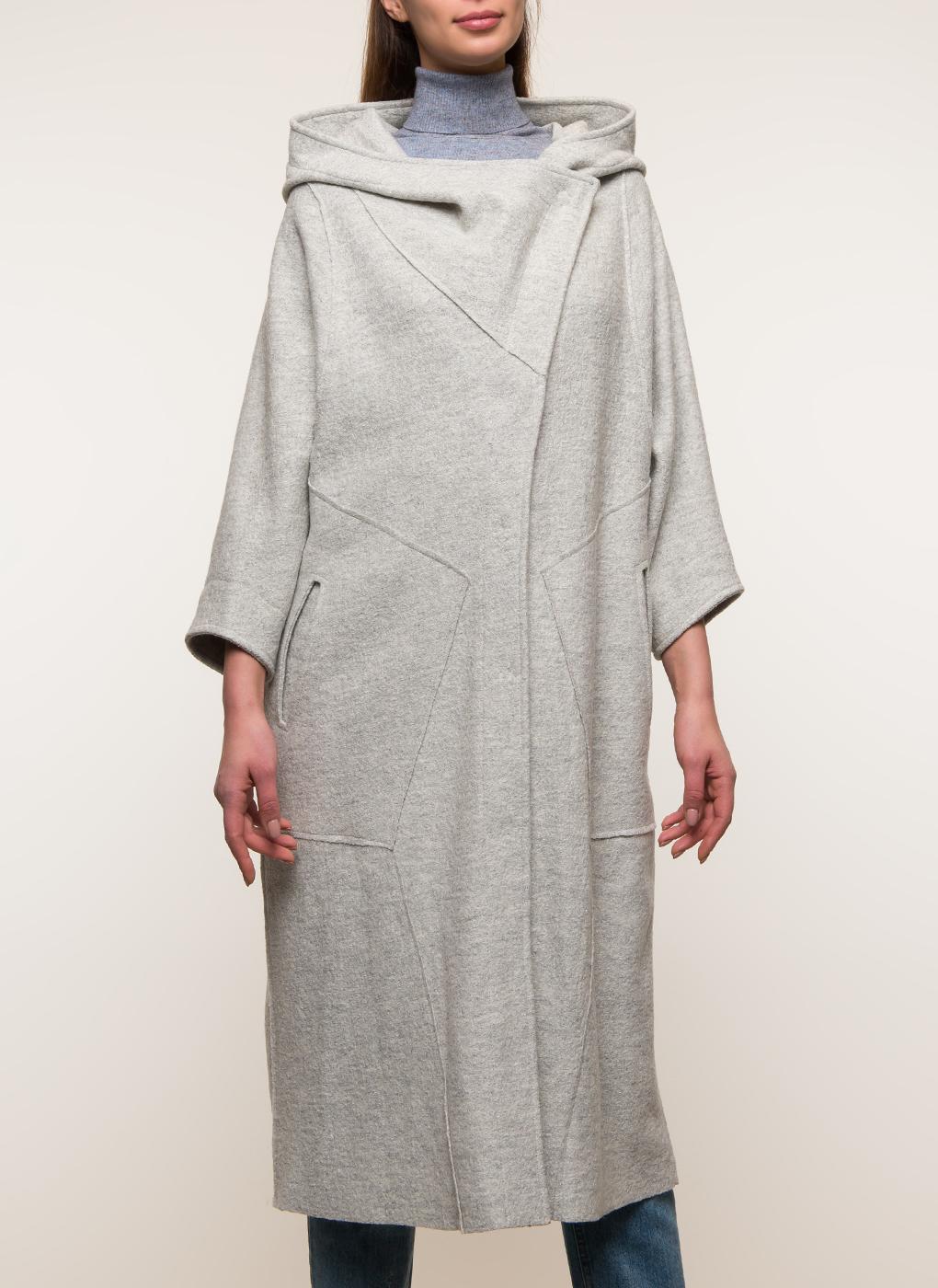 Пальто кокон шерстяное 01, Crosario фото