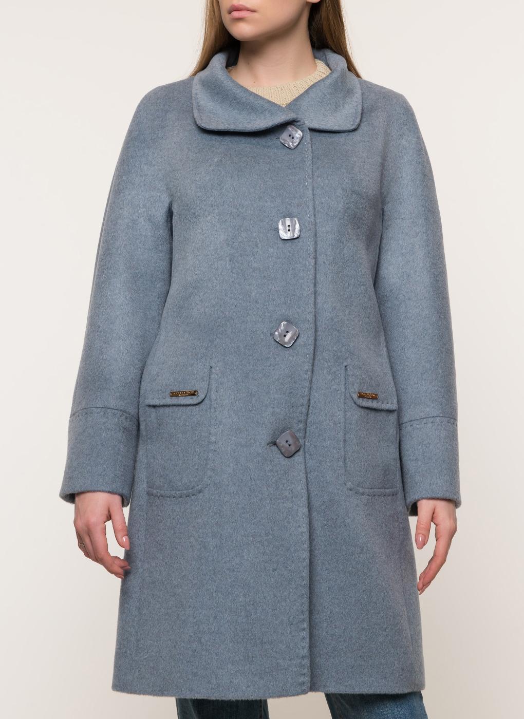 Пальто прямое полушерстяное 40, КАЛЯЕВ фото