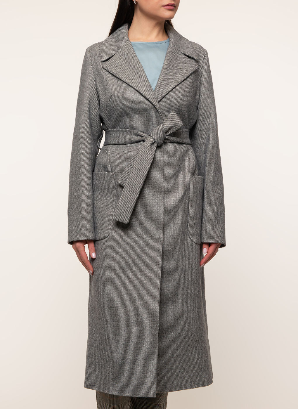 Пальто прямое полушерстяное 42, Amulet фото