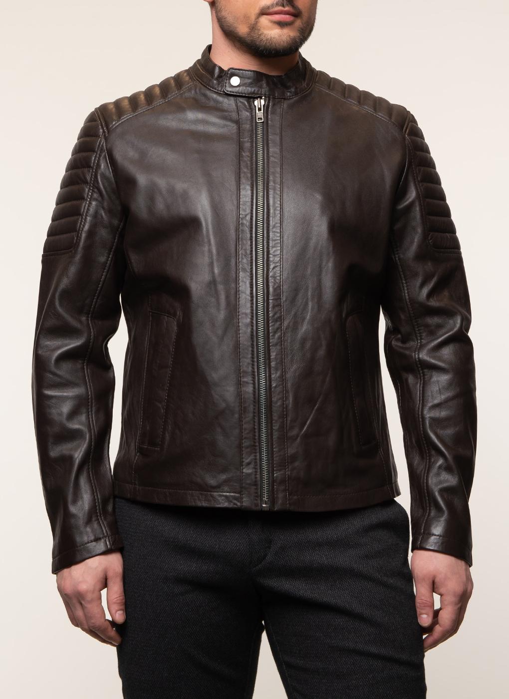 Кожаная куртка мужская 14, КАЛЯЕВ фото