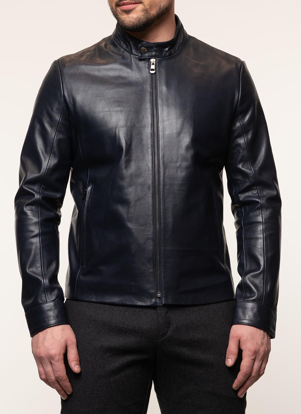 Кожаная куртка мужская 16, КАЛЯЕВ фото