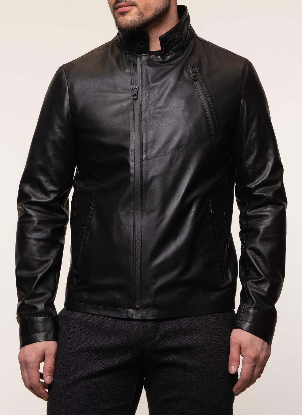 Кожаная куртка мужская 17, КАЛЯЕВ фото