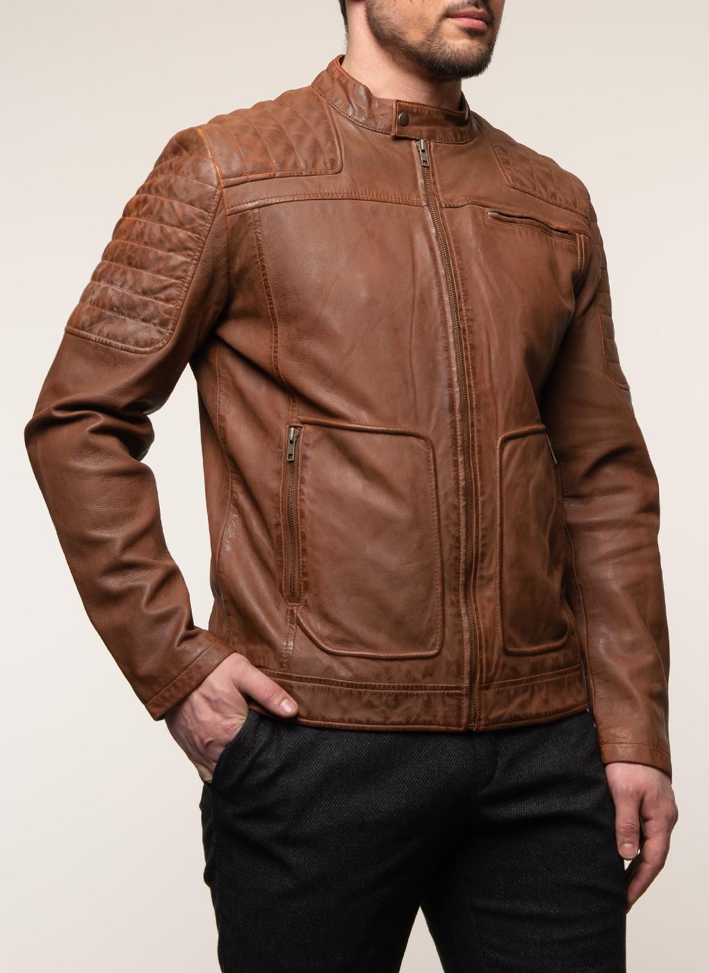 Кожаная куртка мужская 21, КАЛЯЕВ фото
