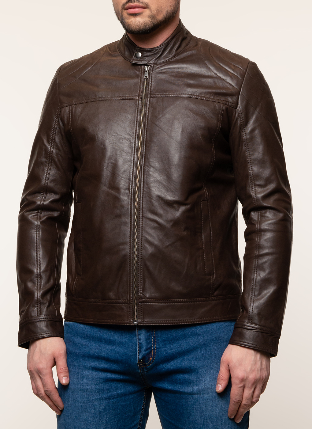 Кожаная куртка мужская 19, Gotthold фото