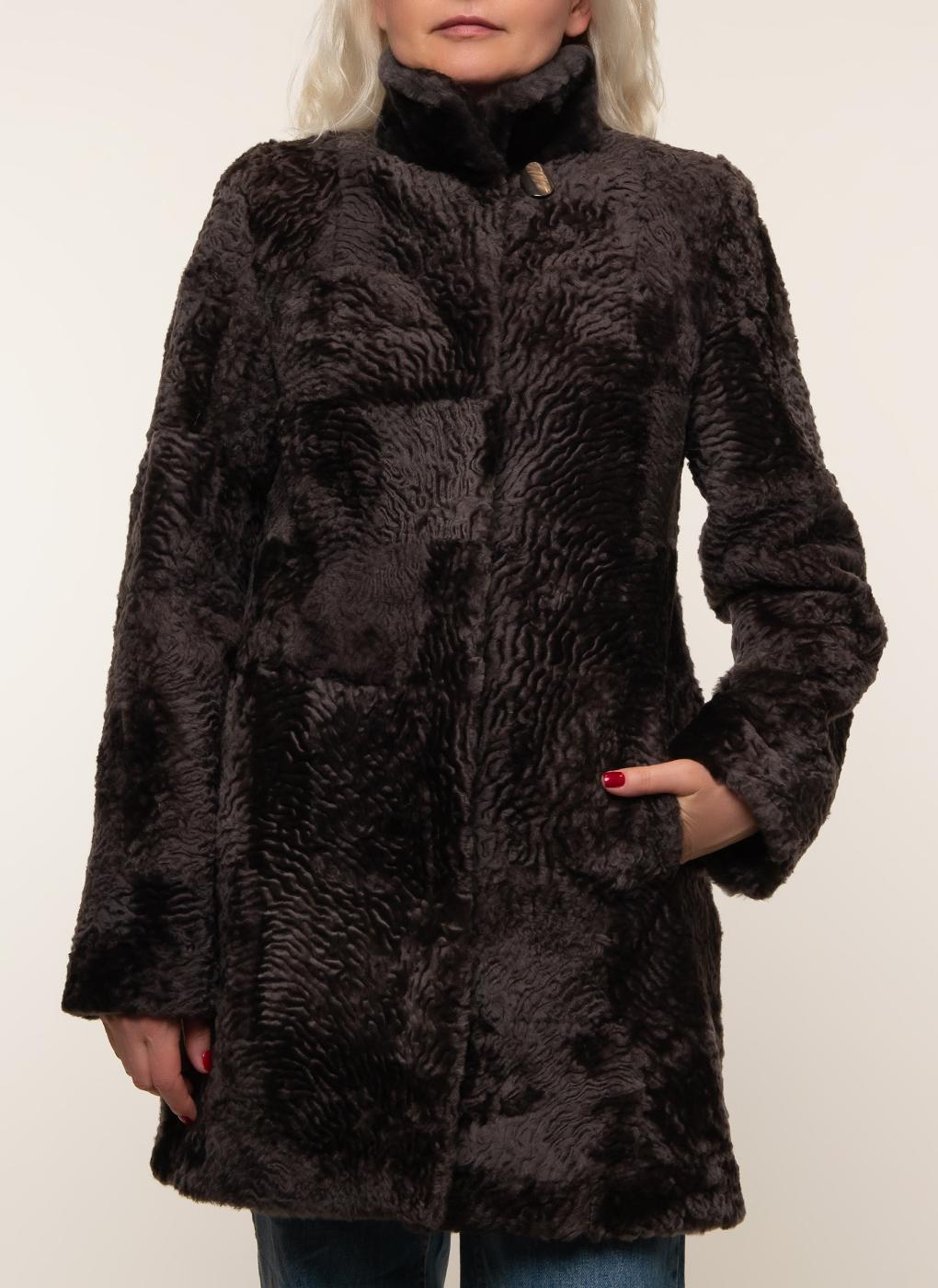 Пальто прямое из мутона 03, Original fur company