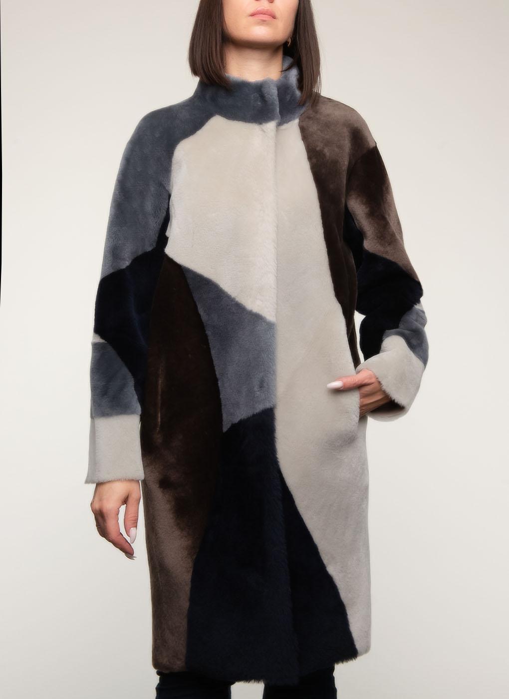 Пальто прямое из овчины 01 двустороннее, Perre фото